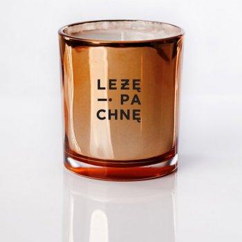 sojowa świeca szklana - miedziana