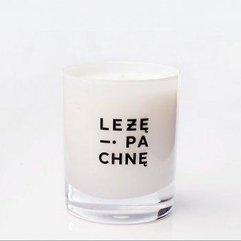 sojowa świeca -  mleczne szkło