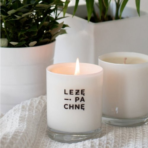 sojowa świeca szklana - biała